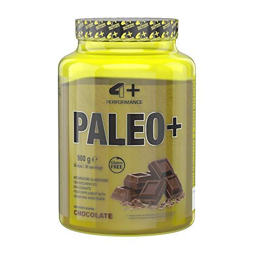 4+ NUTRITION - Paleo+, Integratore Sportivo, Proteine Idrolizzate di Manzo e Uova, Crescita della Massa Muscolare e Riduzione della Stanchezza e Affaticamento, in Polvere, Gusto Chocolate, 900 g