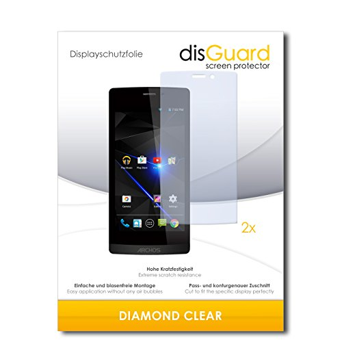 disGuard 2 x Bildschirmschutzfolie Archos 50 Diamond Schutzfolie Folie DiamondClear unsichtbar