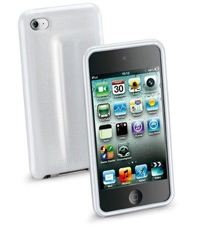 Cellular Line Silikon-Hülle, Folie und Tuch glänzend für Apple iPod touch 4 weiß
