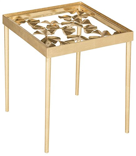 Safavieh fox2595 a Home Collection Otto Ginkgoblatt Beistelltisch, antik Gold