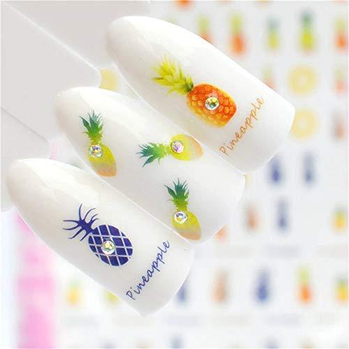 ZJIUYE Autocollant d'ongle 3D Nail Art Conseils Coloré Eté Estampage Mince Adhésif Autocollant Nail Décor Stickers Maquillage Outils A