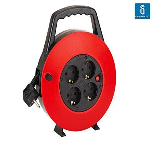 Aigostar 177430 - Cable de alimentación de bobina enrollable de 10 metros...