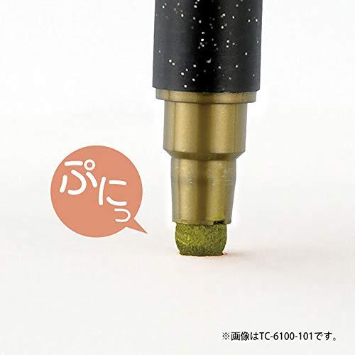 『呉竹 水性ペン ZIG クリーンカラードット メタリック 6色 TC-8100/6V』の10枚目の画像