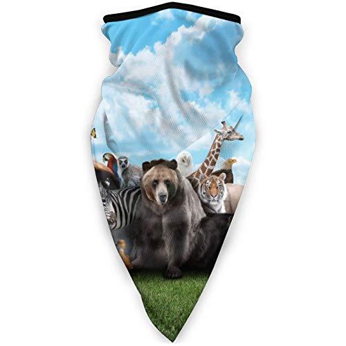 Pasamontaas Mscara de deportes a prueba de viento, bufanda para mujeres y hombres, al aire libre, cmoda y transpirable, para el cuello, bufanda, oso marrn, jirafa, cebra oso polar