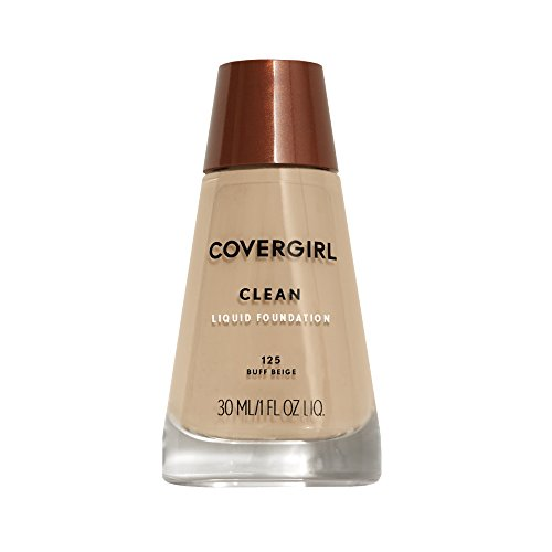 CoverGirl Clean Liquid Makeup, Buff Beige (W) 125, 1.0 Ounce Bottle by COVERGIRL