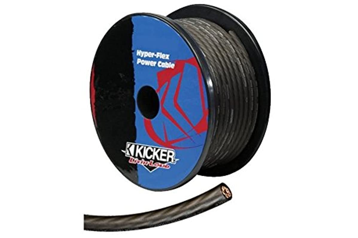 Kicker PWG050 50-Feet Spool 1/0-Gauge OFC Gun-Metal Hyper-Flex Power/Ground Cable (Gray)