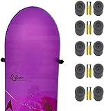 Soporte de pared para tabla de snowboard,almacenamiento de tablas de snowboard,soporte flotante,Diseño invisible,Capacidad para 5 tablas de snowboard,sostiene tablas de snowboard con o sin fijaciones