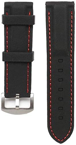 JWCN Uhrenarmband 22 / 24mm Breite Silikon Uhrenarmband Handgelenk Gummi Mens Strap Sport Taucher wasserdichte Uhrenband Ersatzgurt-24cm_rot Uptodate