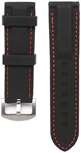 JWCN Correa de reloj de silicona de 22/24 mm de ancho, correa de goma para hombre, correa de repuesto para buceador, resistente al agua, 22 cm_rojo Uptodate