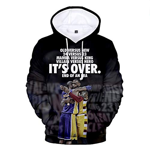 LVTIAN Kobe BryantBasketball Hoodie Jersey3D Print hombres y mujeres larga lose Basketball Hoodie, a, 5XL