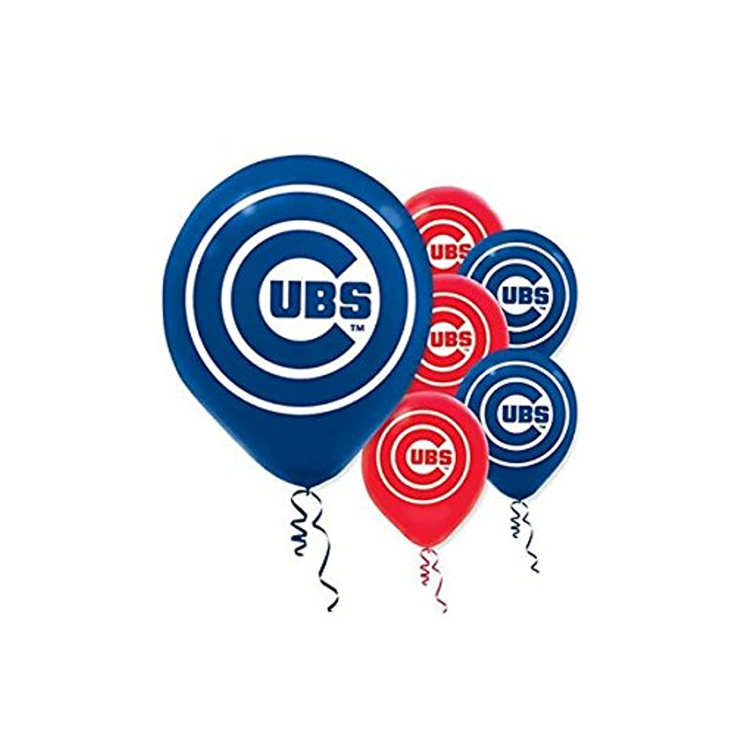 Chicago Cubs Major League Baseball Collection Printed Latex Balloons, Party Decoration