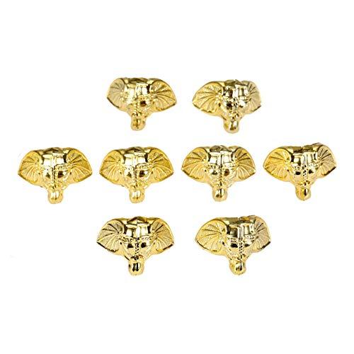 Die Halterung ist auf rechten Winkeln und Ecken befestigt 8pcs Gold-Kunststoff-Elefant Schmuck Chest Box Holz-Kasten Dekorative Schutz Feet Beinkantenabdeckung Corner Schutz-Schutz-28 * 23mm