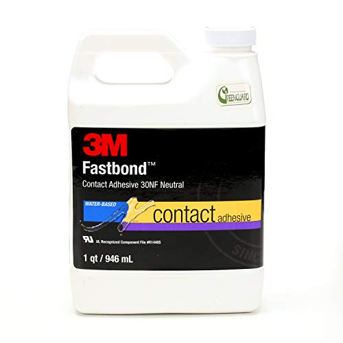 3M Fastbond Contact Adhesive 30NF, Neutral, 1 Quart Can