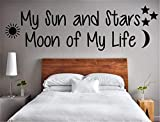 Diuangfoong Letters Wall Decor Stickers My Sun and Stars Moon of My Life Wall Art Decal Bible Verse Wall Quote Faithful Saying for Wall Motivational Wall Words Bedroom Wall Decal