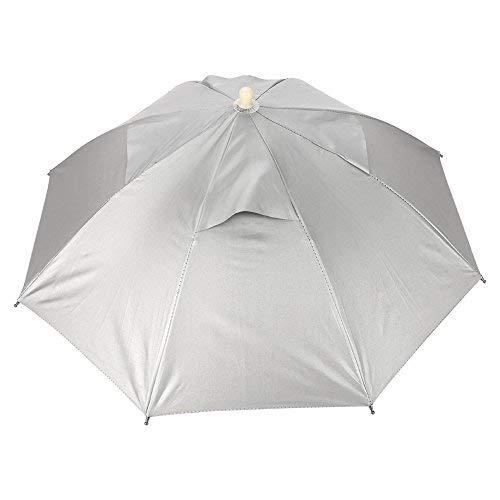 VGEBY Regenschirm Kappe, Angeln Kappe Angelschirme Handfree UVschutz Regenschirm Hut Wasserdichter Fischen Hut Golf Kampieren f¨¹r Freien Sport