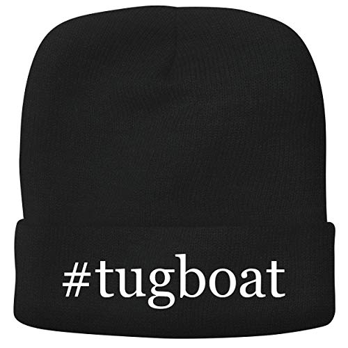 BH Cool Designs #Tugboat - Adult Hashtag Comfortable Fleece Lined Beanie, Black