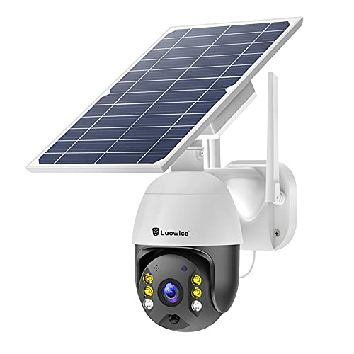 Solar Home Security Camera Outdoor Wireless WiFi with 64G TF Card Colorful Night Vision, 18000mAh...