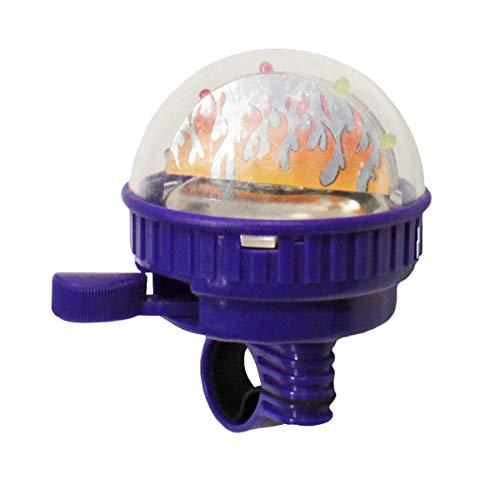 Maui Toys Kinder Fahrradklingel mit Leuchteffekt 5 LEDs Fahrrad Schelle Glocke, Farbe:Lila, Herstellernummer:BLO110025117_lila