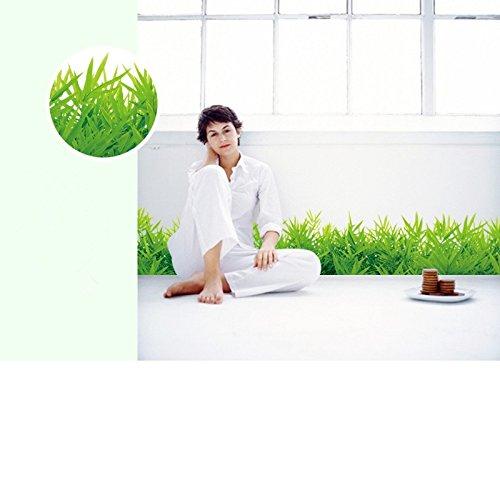 Drawihi Komfortable 1 Stück grüne Gras Tapete Fußzeile Ecke Wandaufkleber Schlafzimmer Dekoration (Farbe: grün)
