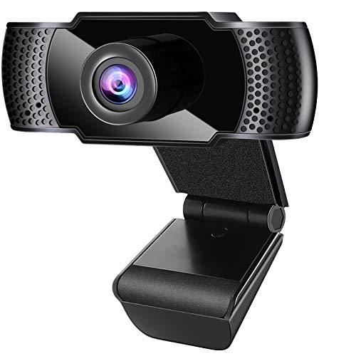 Anykuu Webcam 1080p Full HD con Microfono USB Webcam Compatibile con Windows per Laptop PC Desktop USB 2.0 Supporto Vari Strumenti di Chat e Software di videoconferenza