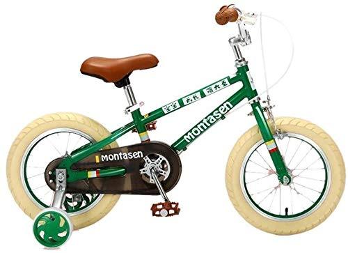 CHENXU Bicicleta para Niños y Niñas Marco de Acero de la Bici de la Bicicleta Infantil 14-16 Pulgadas de niño con la Rueda de formación (Size : 16 Inches)