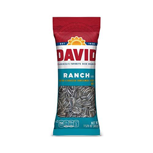 small DAVID Roast & Salt Ranch Sunflower Seeds, 1.625 oz, 12 packs
