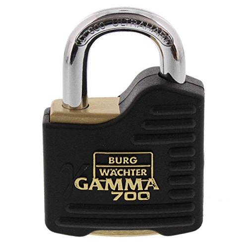 BURG-WÄCHTER Vorhängeschloss mit Schlüssel (Bügelstärke: 9 mm, Stahlbügel) Gamma 700 55