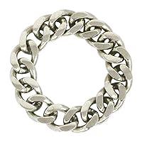 ステンレス リング(118)喜平チェーンリング 銀色 指輪 金属アレルギー対応 レディース メンズ