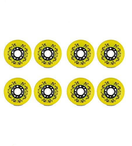 MY1MEY 8-Packs Inline Skate Ersatzrollen, Inline Skate Wheels,90A 70Mm 72Mm 80Mm, Premium Ersatz PU Räder(yellow78mm)