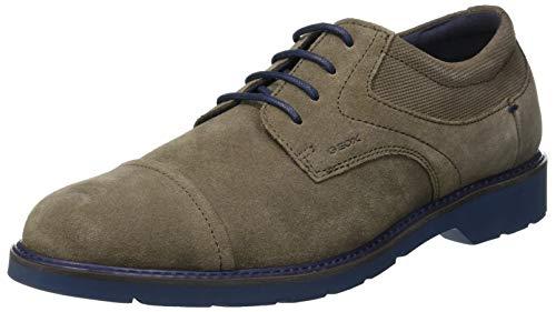 Geox U Garret A, Zapatos de Cordones Derby Hombre, (Taupe C6029), 45 EU