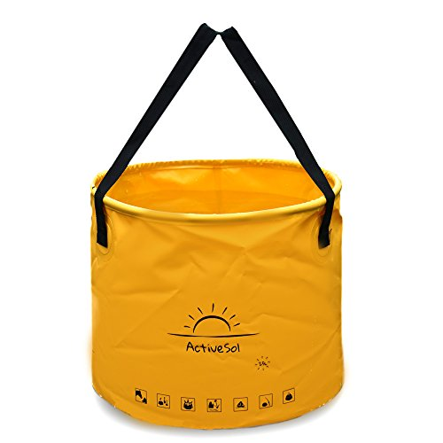 ActiveSol Cubo Plegable de 25 litros | Robusto, Plegable, pequeño. De Multiuso para Viajar, en el jardín, al Aire Libre, de Pesca y de Camping (25 litros)