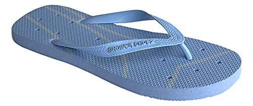Shower Shoez Women s Non-Slip Pool Dorm Water Sandals Flip Flops (Baby Blue, numeric_7)