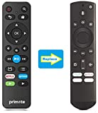Primote basic BACKUP IR remote replacement for Toshiba Fire TV and Insignia Fire TV Editions with 21 buttons. It does not have the voice search function. 【Important】 NOT Support Bluetooth pairing and Initial setup for a new TV, or for a TV after a fu...