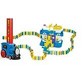 Trenino domino automatico,Locomotiva con Domino,Domino Train Toy Set,Treno Elettrico Domino, Giocattoli Educativi Interessanti Giochi