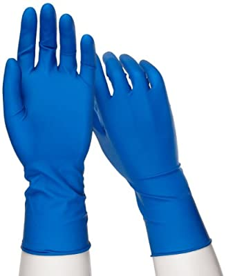 West Chester 2550 PosiShield Examination Grade Disposable Latex Gloves, Powder Free: Dark Blue, 14 mil, XX-Large, Box of 50