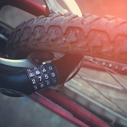 LYMPRO Fahrradschloss 110 cm mit massiven Kettengliedern, 7 mm stark – 2 Jahre Geld-zurück-Garantie – Sicherheitsschloss, Radschloss – Mit Textilschlauch zum Vermeiden von Kratzern. Inklusive 2 Schlüssel. Zum sicheren und sorgenfreien Abschließen des eigenen Fahrrads! - 5