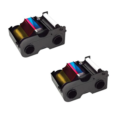 Fargo Printer YMCKO Color Ribbons for DTC1000 and DTC1250e - 2 Pack Bundle