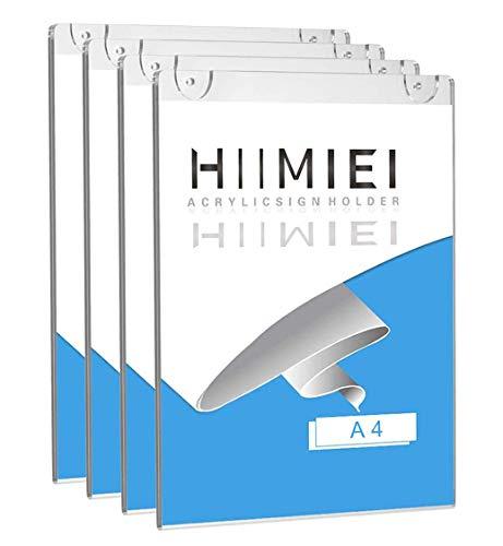 HIIMIEI Soporte letreros Montaje Pared acrílico 4