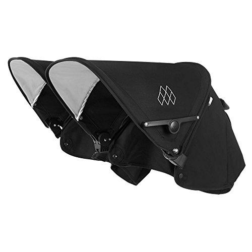 Maclaren Twin Techno Capucha - Capucha extensible UPF50 + / impermeable que se adapta a los buggies Twin Techno. Disponible en negro/carbón