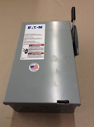 CUTLER HAMMER DG321UGB Safety Switch, Non-FUSIBLE, 30AMP, General Duty, Painted Steel, Indoor, 240V, 3POLE, NEMA 1