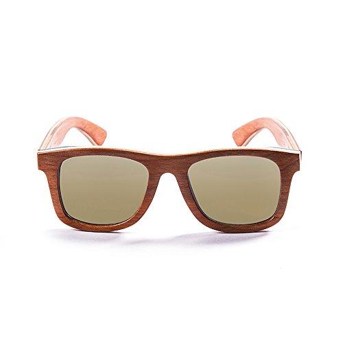Ocean Sunglasses Wood Venice Beach - Gafas de Sol de Madera - Montura : Amarilla - Lentes : Amarillo Espejo (54001.1)