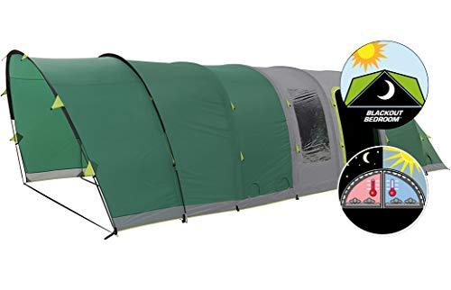 COLEMAN Tente Gonflable pour 6 Personnes, 6 L, Tente Tunnel de Camping avec poteaux à air, Tente Gonflable familiale avec Technologie de Chambre occultante, 100% étanche avec Tapis de Sol Cousu
