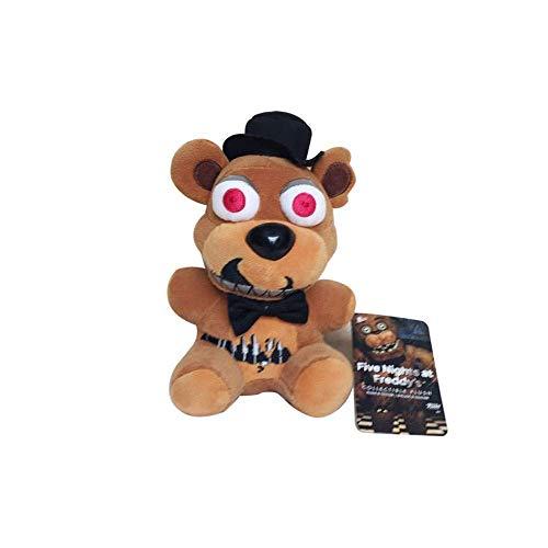 JIAL Cinco Noches en la Pesadilla de Freddy Freddy Bear Puppy Puppy para niños Freddy Bear Peluche Peluche Juguetes 18 cm Chongxiang