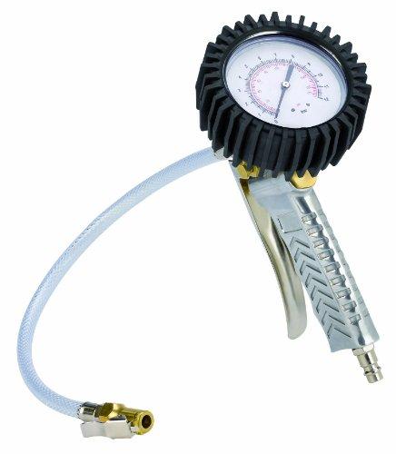 Original Einhell Reifenfüllmesser Profi (passend für Kompressoren, Arbeitsdruck 0-8 bar, mit Zwillingsstecker und Gummischlauch in Profiqualität)