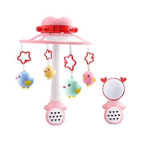lijun Sonajero para bebé Cuna Cuna Cama Campana Móviles Juguete Giratorio Musical Luz y Sonido Recién Nacido Bebé Niña Niño Agarrando Juguetes Atractivos