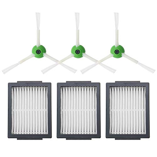 Piezas de repuesto para aspiradora HEPA filtro + cepillo lateral + cepillo cepillo para iRobot compatible con Roomba i7 E5 E6 Series Robot Partes de aspirador piezas de repuesto accesorios