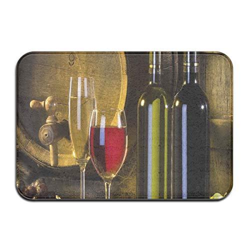 N\A Alfombrilla para Puerta, felpudos al Aire Libre, Alfombrillas Antideslizantes de Vino Tinto, Felpudo Interior de absorción, Alfombrillas para el baño del hogar