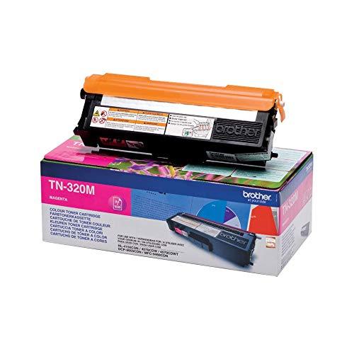 Brother Original Tonerkassette TN-320M magenta (für Brother HL-4140CN, HL-4570CDW, HL-4150CDN, HL-4570CDWT, DCP-9055CDN, DCP-9270CDN, MFC-9460CDN, MFC-9970CDW, MFC-9465CDN)
