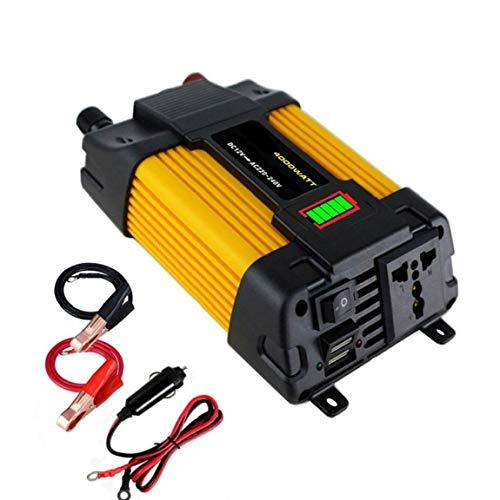 DC 12V 500W de potencia del inversor de coches para 220V AC convertidor con el cargador del adaptador del coche LED Dual USB Display Power Distribution