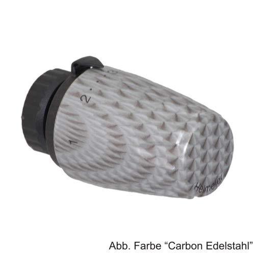 HEIMEIER Thermostat-Kopf DX Art-line Carbon Edelstahl, 670008900